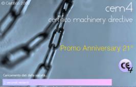 CEM4 | Certifico Machinery Directive: Promo Anniversary 21°