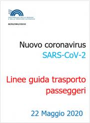 Nuovo coronavirus SARS-CoV-2 | Linee guida trasporto passeggeri