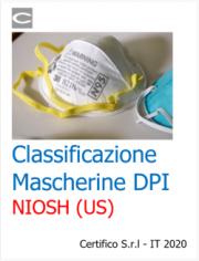 Classificazione Mascherine DPI NIOSH (US)