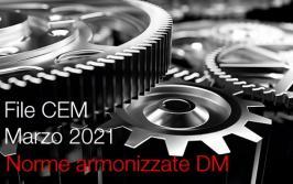 Norme armonizzate Direttiva macchine Marzo 2021: il File CEM