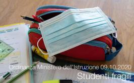 Ordinanza Ministero dell'Istruzione 09.10.2020   Studenti fragili