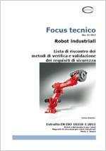 Robot industriali EN ISO 10218-1:2011 - Check list Verifiche e Validazioni