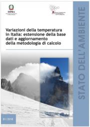 Variazioni della temperatura in Italia | ISPRA 2018