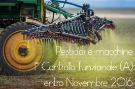 Pesticidi: Formazione operatori e Ispezione macchine applicazione