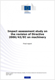 Impact assessment study on the revision of Directive 2006/42/EC