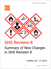 GHS Rev. 8 2019: Summary of New Changes