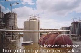 UNI inchiesta preliminare | Linee guida gestione di eventi NaTech