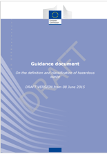 Guidance document On the definition and classification of hazardous waste
