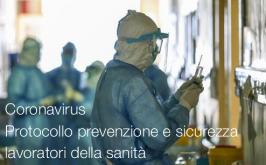 Protocollo per prevenzione e sicurezza dei lavoratori della sanità