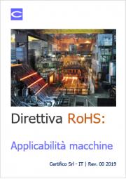 Direttiva RoHS: applicabilità a macchine
