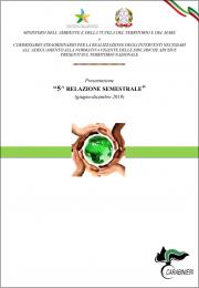 5° relazione semestrale sulle bonifiche delle discariche abusive