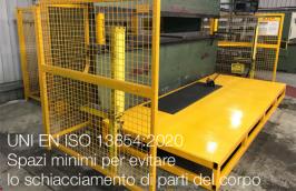 UNI EN ISO 13854:2020 | Spazi minimi per evitare lo schiacciamento di parti del corpo