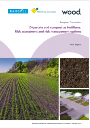 Digestate and compost as fertilisers: Risk assessment and risk management options