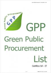 Green Public Procurement (GPP) - List