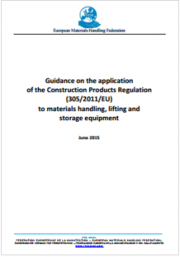 Application of the Construction Products Regulation to materials handling, lifting and storage equipment