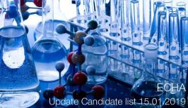 ECHA: Update Candidate list 15.01.2019