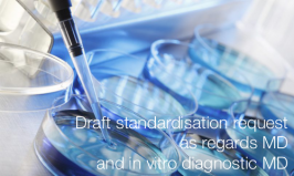 Draft standardisation request as regards medical devices