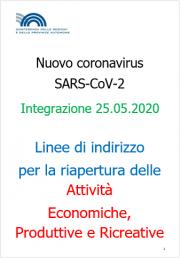 COVID-19 | Linee guida riapertura attività Economiche e Produttive Rev. 25.05.2020