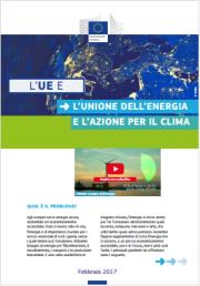 L'UE e l'unione dell'energia e l'azione per il clima