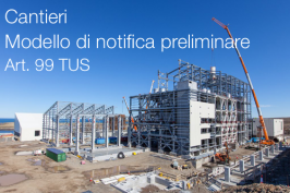 Modello notifica preliminare Cantieri