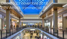 Decreto 23 novembre 2018  | RTV Attività commerciali P.I.