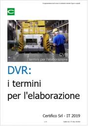 DVR: i termini per l'elaborazione