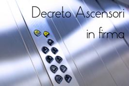 Decreto ascensori: il testo prossimo alla firma