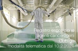 Registri esposizione agenti cancerogeni/mutageni/agenti biologici   Obbligo invio telematico