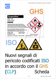 Nuovi segnali di pericolo codificati ISO in accordo con il GHS