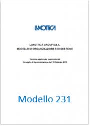 Modello 231 Luxottica Group