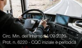Circ. Min. dell'Interno 04/09/2020 Prot. n. 6220 - CQC iniziale e periodica