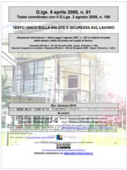 Testo Unico Sicurezza D.Lgs. 81/2008 - 01.2019