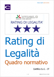 Rating di legalità: Quadro normativo