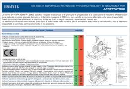 Check list rapida requisiti di sicurezza macchine alimentari - INAIL