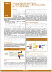 Innovazioni impiantistiche: La cogenerazione e la trigenerazione nel settore rurale