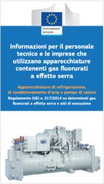Informazioni personale e imprese per gas fluorurati