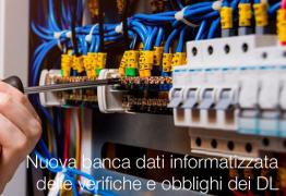 Nuova banca dati informatizzata delle verifiche e obblighi dei DL