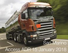 San Marino: access ADR on 15 January 2018