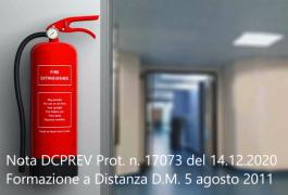 Nota DCPREV Prot. n. 17073 del 14.12.2020