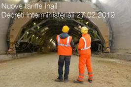 Nuove tariffe Inail | decreti interministeriali 27.02.2019