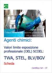 Agenti chimici: i valori limite UE di esposizione professionale TWA, STEL, BLV/BGV