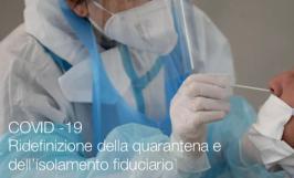 COVID -19 | Ridefinizione della quarantena e dell'isolamento fiduciario