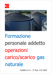 Formazione personale addetto alle operazioni di carico e scarico di gas naturale