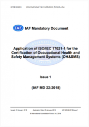 Application of ISO/IEC 17021-1 for the certification of OH&SMS