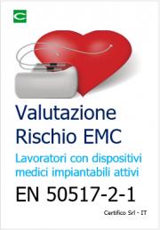 Valutazione del rischio EMC per i lavoratori portatori di pacemaker