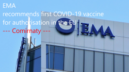 EMA recommends first COVID-19 vaccine for authorisation in the EU
