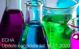 ECHA: Update candidate list 16.01.2020