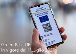 Green Pass UE: In vigore dal 1° luglio 2021