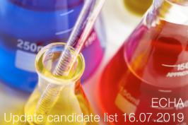 ECHA: Update candidate list 16.07.2019