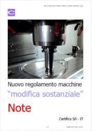 Nuovo Regolamento macchine: definita la